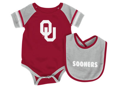 Oklahoma Sooners Colosseum NCAA Newborn Rollout Onesie and Bib Set
