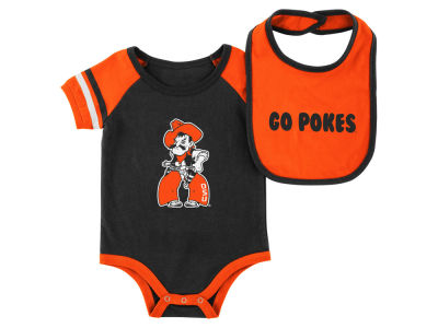 Oklahoma State Cowboys Colosseum NCAA Newborn Rollout Onesie and Bib Set