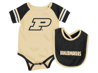 Purdue Boilermakers Colosseum NCAA Infant Rollout Onesie and Bib Set