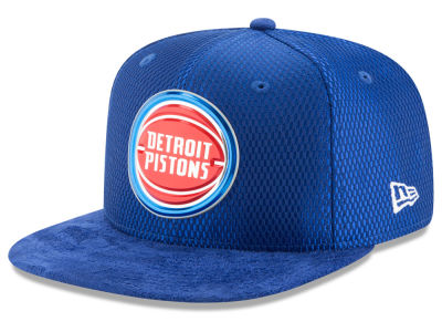 Detroit Pistons New Era NBA On-Court Collection Draft 9FIFTY Snapback Cap