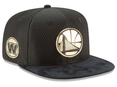 Golden State Warriors New Era NBA On-Court Collection Draft 9FIFTY Snapback Cap