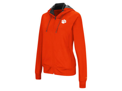 Clemson Tigers Colosseum NCAA Women's Medley Full Zip Hooded Sweatshirt