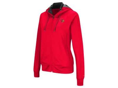 Louisville Cardinals Colosseum NCAA Women's Medley Full Zip Hooded Sweatshirt