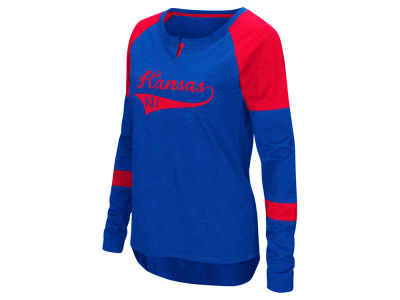 Kansas Jayhawks Colosseum NCAA Women's Routine Long Sleeve T-Shirt