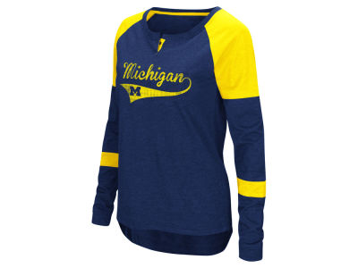 Michigan Wolverines Colosseum NCAA Women's Routine Long Sleeve T-Shirt