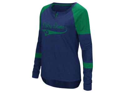 Notre Dame Fighting Irish Colosseum NCAA Women's Routine Long Sleeve T-Shirt