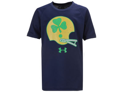 Notre Dame Fighting Irish Under Armour NCAA Youth Helmet Tech T-Shirt