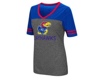 Kansas Jayhawks Colosseum NCAA Women's Mctwist T-Shirt