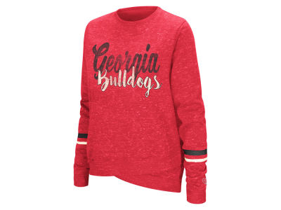 Georgia Bulldogs Colosseum NCAA Women's Birdie Fleece Crew Sweatshirt