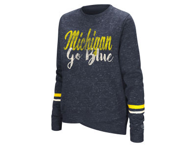 Michigan Wolverines Colosseum NCAA Women's Birdie Fleece Crew Sweatshirt