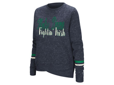 Notre Dame Fighting Irish Colosseum NCAA Women's Birdie Fleece Crew Sweatshirt