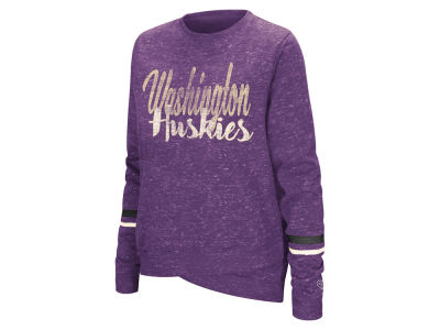 Washington Huskies Colosseum NCAA Women's Birdie Fleece Crew Sweatshirt