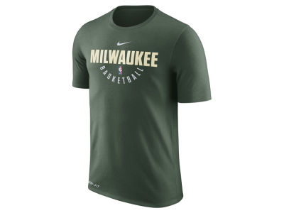Milwaukee Bucks Nike NBA Men's Dri-Fit Cotton Practice T-Shirt