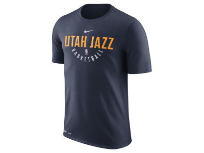 Utah Jazz Nike NBA Men's Dri-Fit Cotton Practice T-Shirt