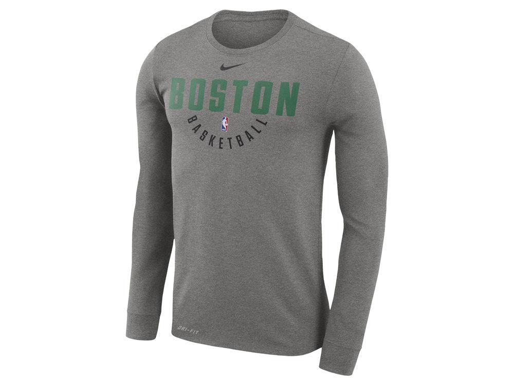 Boston Celtics Nike NBA Men s Long Sleeve Dri-Fit Cotton Practice T-shirt  97635374a