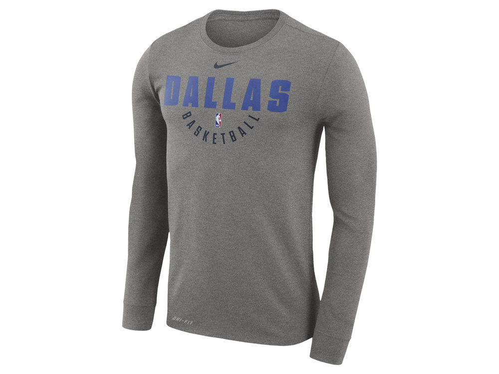 Dallas Mavericks Nike NBA Men s Long Sleeve Dri-Fit Cotton Practice T-shirt   5fcedcbac