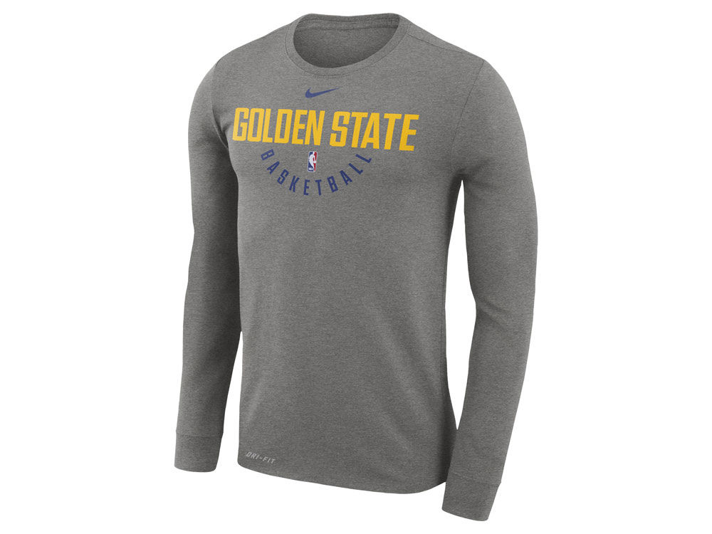 Golden State Warriors Nike NBA Men s Long Sleeve Dri-Fit Cotton Practice T- shirt  bf2c9d751