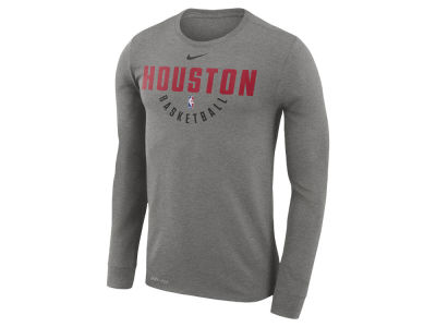 Houston Rockets Nike NBA Men's Long Sleeve Dri-Fit Cotton Practice T-shirt