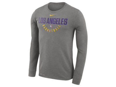 Los Angeles Lakers Nike NBA Men's Long Sleeve Dri-Fit Cotton Practice T-shirt