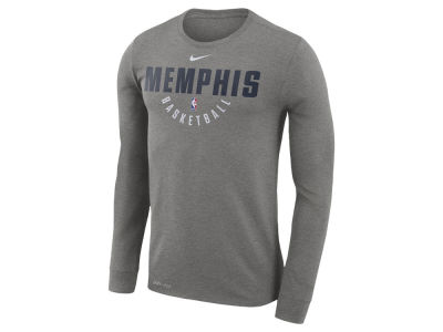 Memphis Grizzlies Nike NBA Men's Long Sleeve Dri-Fit Cotton Practice T-shirt