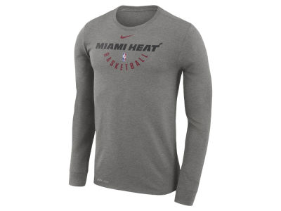 Miami Heat Nike NBA Men's Long Sleeve Dri-Fit Cotton Practice T-shirt