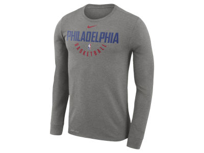Philadelphia 76ers Nike NBA Men's Long Sleeve Dri-Fit Cotton Practice T-shirt
