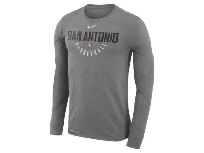 San Antonio Spurs Nike NBA Men's Long Sleeve Dri-Fit Cotton Practice T-shirt