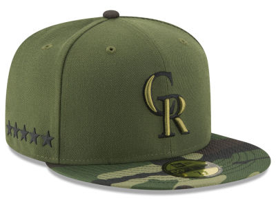 Colorado Rockies New Era 2017 MLB Youth Memorial Day 59FIFTY Cap