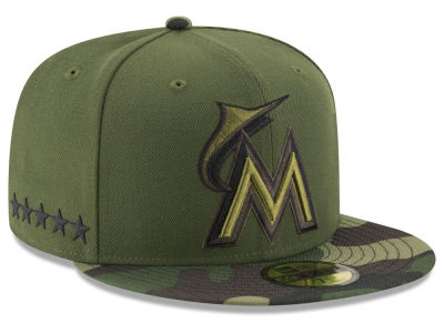 Miami Marlins New Era 2017 MLB Youth Memorial Day 59FIFTY Cap
