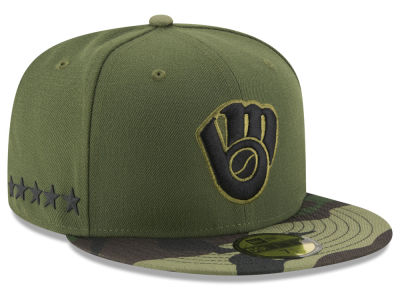 Milwaukee Brewers New Era 2017 MLB Youth Memorial Day 59FIFTY Cap