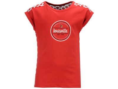 Louisville Cardinals Garb NCAA Toddler Girls Megan Polka Dot Dress