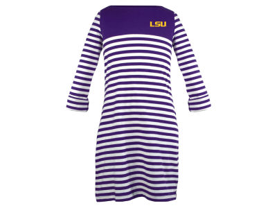 LSU Tigers NCAA Girls Kristen Striped Dress
