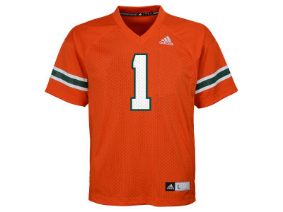 Miami Hurricanes adidas NCAA Kids Replica Football Jersey Adidas