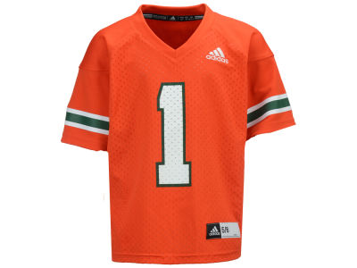 Miami Hurricanes adidas NCAA Toddler Replica Football Jersey