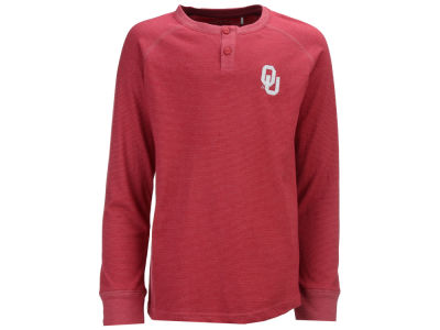 Oklahoma Sooners Garb NCAA Youth Hunter Striped Long Sleeve Henley