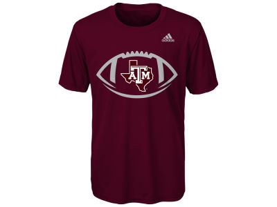 Texas A&M Aggies adidas NCAA Youth Sideline Pigskin T-Shirt