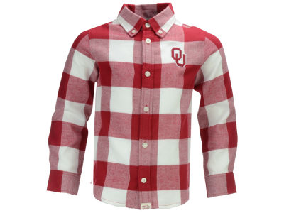 Oklahoma Sooners NCAA Toddler Nicolas Toddler Flannel Button Up