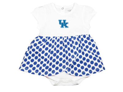 Kentucky Wildcats Garb NCAA Newborn Girls Megan Polka Dot Dress