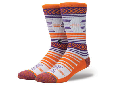 Clemson Tigers Stance NCAA Mazed Sock