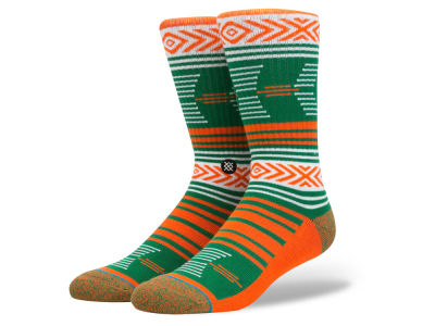 Miami Hurricanes Stance NCAA Mazed Sock