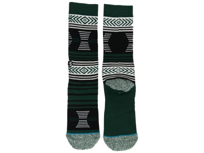 Michigan State Spartans Stance NCAA Mazed Sock