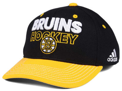 Boston Bruins adidas NHL Locker Room Structured Flex Cap