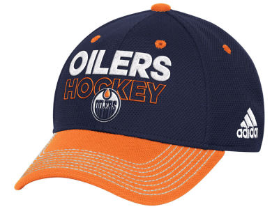 Edmonton Oilers adidas NHL Locker Room Structured Flex Cap
