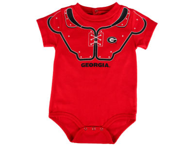 Georgia Bulldogs Outerstuff NCAA Newborn Lil Blocker Football Creeper