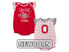 Ohio State Buckeyes Outerstuff NCAA Newborn Girls Heart Fan Creeper Set Infant Apparel