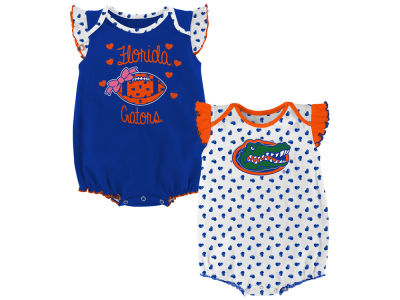 Florida Gators Outerstuff NCAA Newborn Girls Heart Fan Creeper Set