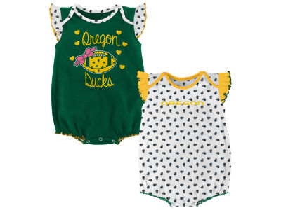 Oregon Ducks Outerstuff NCAA Newborn Girls Heart Fan Creeper Set