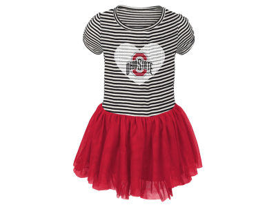 Ohio State Buckeyes Outerstuff NCAA Toddler Tutu Sequins Dress