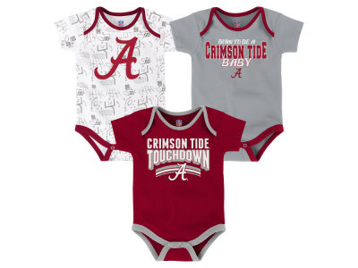 Alabama Crimson Tide Outerstuff NCAA Newborn Playermaker 3 Piece Creeper Set