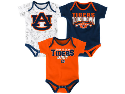 Auburn Tigers Outerstuff NCAA Newborn Playermaker 3 Piece Creeper Set
